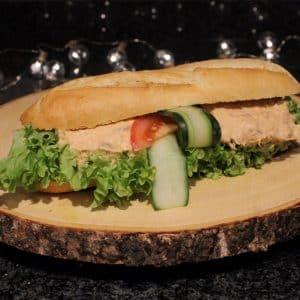Pistolet tonijnsalade wit